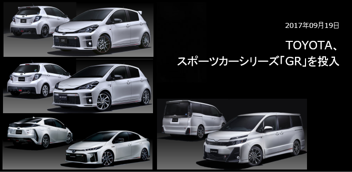 TOYOTA、スポーツカーシリーズ「GR」を投入