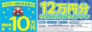 サポカー補助金10万円TS3カードポイントプレゼントキャンペーン