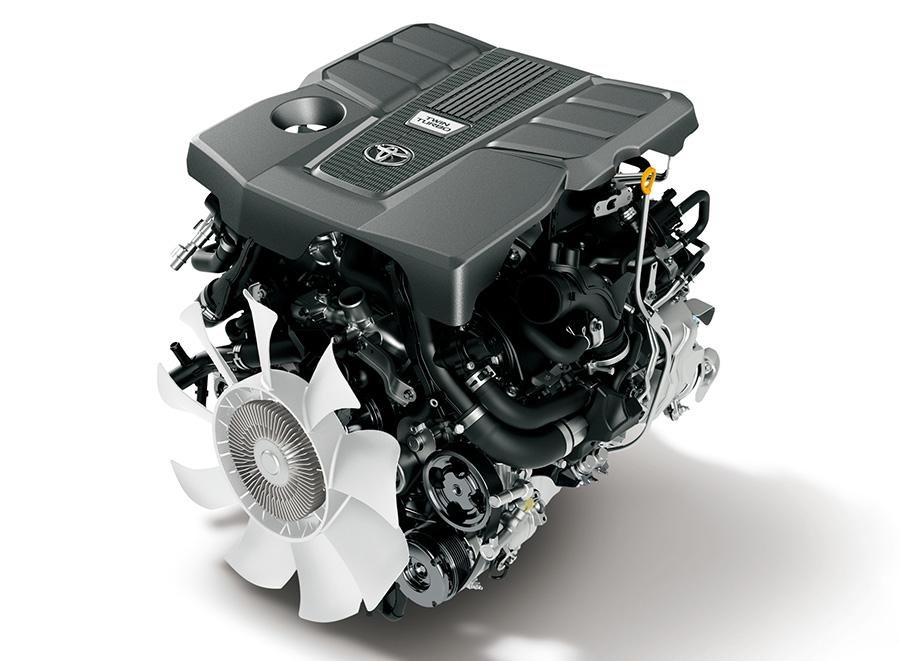 新型ランドクルーザーエンジン